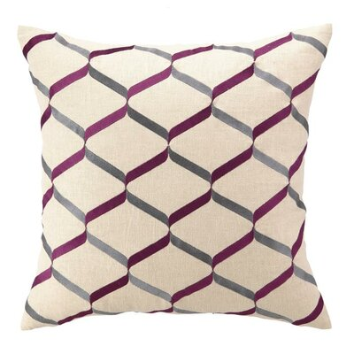 D.L. Rhein Nona Linen Throw Pillow Color: Fuchsia