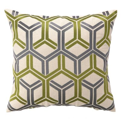 D.L. Rhein Shannon Linen Throw Pillow Color: Kiwi
