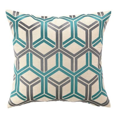 D.L. Rhein Shannon Linen Throw Pillow Color: Sea blue