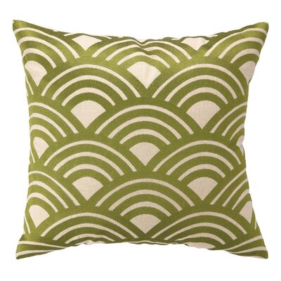 Arches Throw Pillow Color: Green
