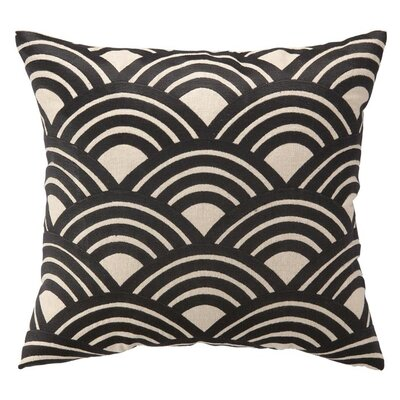 Arches Throw Pillow Color: Grey