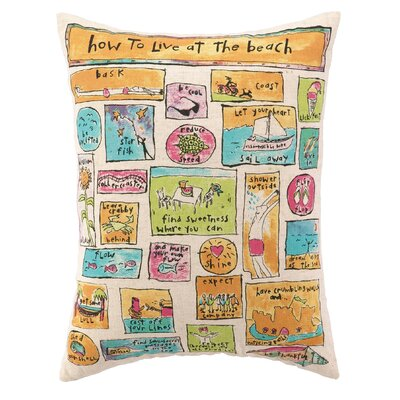 How to Live at The Beach Wool Throw Pillow