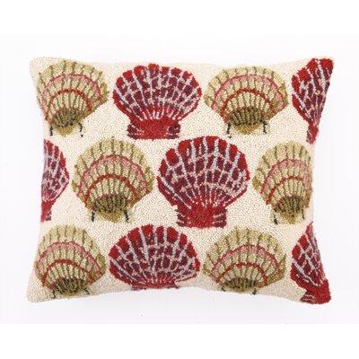 Scallops on The Beach Wool Pillow