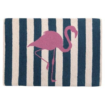 Flamingo Bule/Pink Area Rug Rug Size: 2 x 28