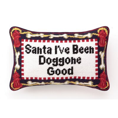 Needlepoint Doggone Good Wool Throw Pillow