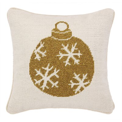 Needlepoint Ornament Wool Throw Pillow