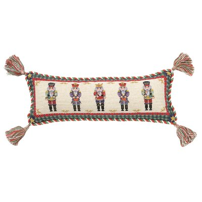 Needlepoint Nutcracker Wool Lumbar Pillow