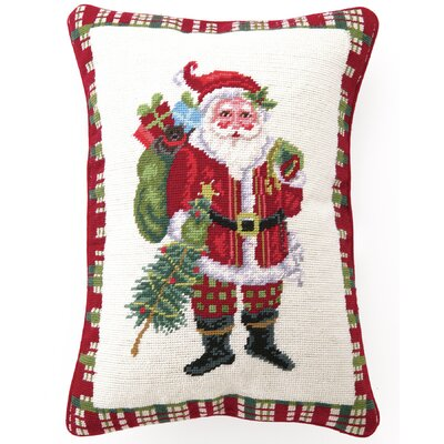 Christmas at North Pole Santa Wool Pillow