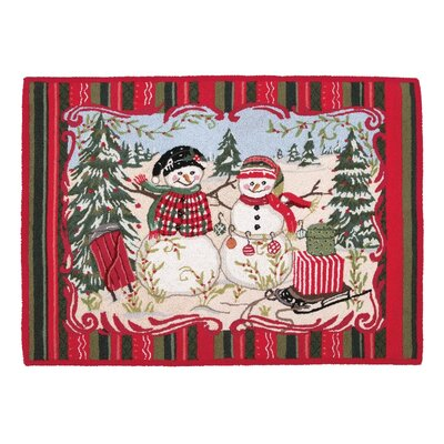 Christmas at the North Pole Snowman Rug Rug Size: 210 x 311