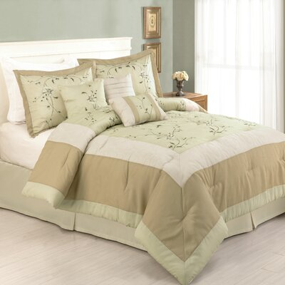 Modern Heirloom Rachel 7 Piece Comforter Set Size: California King