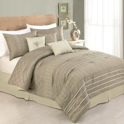 Modern Heirloom Germaine 7 Piece Comforter Set Size: King