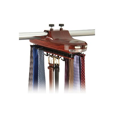 Richards Homewares Revolving Motorized Lighted Tie and Belt Rack Hooks Organizer - Finish: Faux Wood Grain at Sears.com