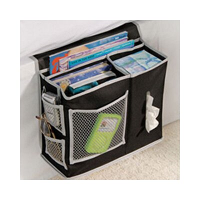 Gearbox Storage Bedside Caddy Color: Black / Grey
