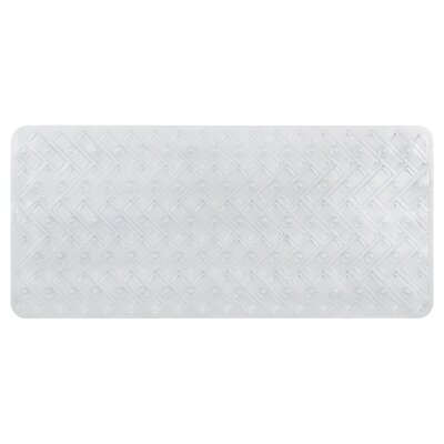 Vinyl Non-Slip Herringbone Design Shower Mat Color: Clear
