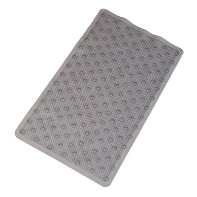 Vinyl Non-Slip Rings Design Shower Mat with Ultra Secure Suction Cups Color: Gray