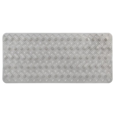 Vinyl Non-Slip Herringbone Design Shower Mat Color: Smoke