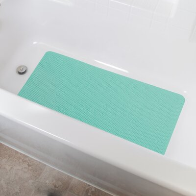 Vinyl Foam Non-Slip Waffle Design Shower Mat with Ultra Secure Suction Cups Color: Green