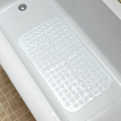 Vinyl Non-Slip Supreme Design Shower Mat with Ultra Secure Suction Cups