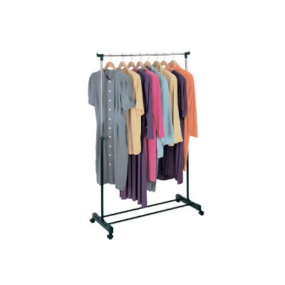 RICHARDS HOMEWARES Free Standing Storage Rolling Adjustable Garment Rack Clothes Hanger at Sears.com