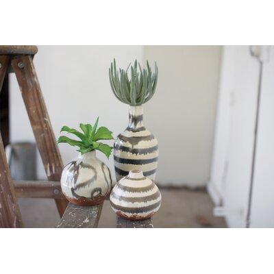Ceramic Bud 3 Piece Table Vase Set