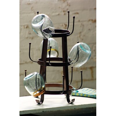 Hawthorne Iron Tabletop Wine Glass Rack