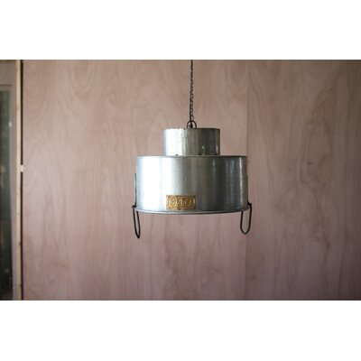 Jacqueline Double Metal Drum Pendant