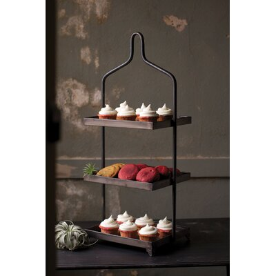 Square Metal 3 Tiered Standard Shelf
