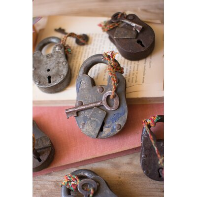 Assorted Iron Lock 6 Piece Sculpture Set