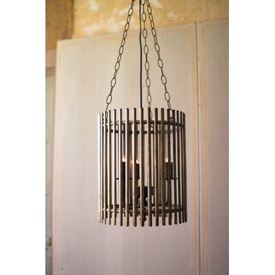Fabiana Slatted Iron Foyer Pendant