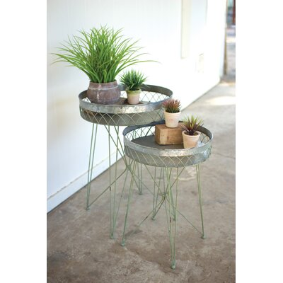 Appleton Galvanize Wire 2 Piece Nesting Tables