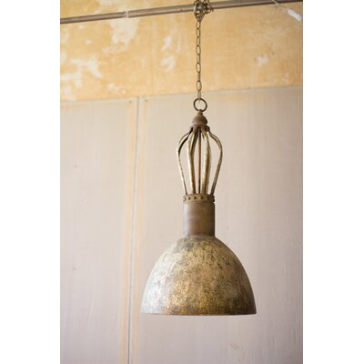 Delfina Metal Dome Inverted Pendant