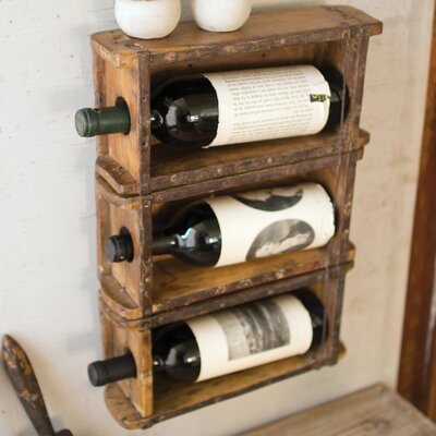 Chryses Brick Mold Wall Mounted Wine Bottle Rack