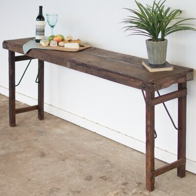Jamie Antique Wooden Folding Console Table