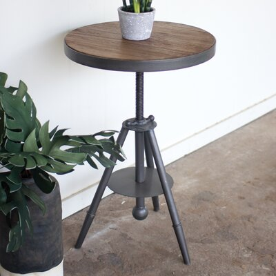 Melorse Adjustable Wood/ Metal End Table