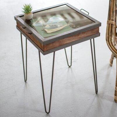 Glenwood Wood/Iron End Table