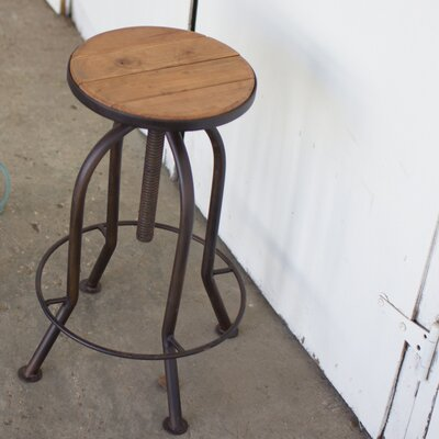 Haynes Adjustable Height Bar Stool Finish: Brown