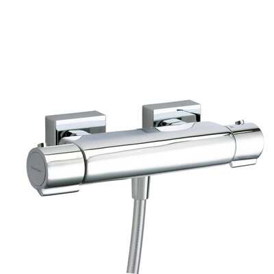 Arola Double Handle Round Bath Shower Mixer Finish: Chrome