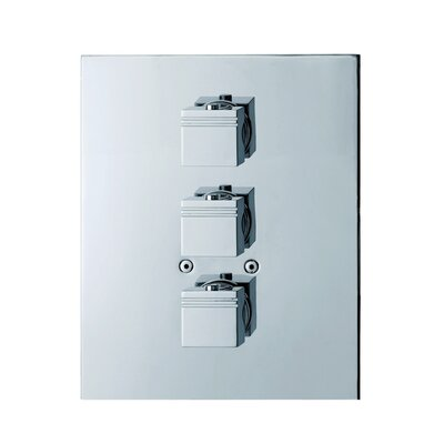 Kuatro Rectangle Thermostatic Three Hole Shower Mixer