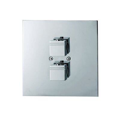 Kuatro Rectangle Thermostatic Two Hole Shower Mixer