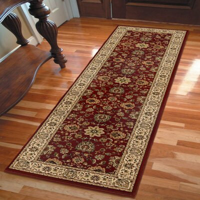 Bergues Red Wine Area Rug Rug Size: Runner 2'3