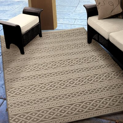 Acton Tan/Ivory Indoor/Outdoor Area Rug Rug Size: 77 x 1010