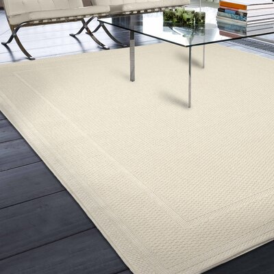Acton Ivory Solid Indoor/Outdoor Area Rug Rug Size: 51 x 76