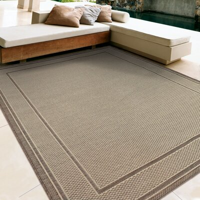 Acton Tan Indoor/Outdoor Area Rug Rug Size: 51 x 76