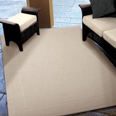 Acton Ivory Solid Indoor/Outdoor Area Rug Rug Size: 51 x 76