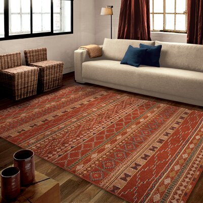 Fergus Red Area Rug Rug Size: 710 x 1010