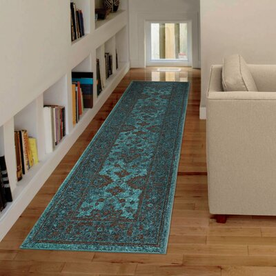 Los Feliz Blue Area Rug Rug Size: Rectangle 53 x 76