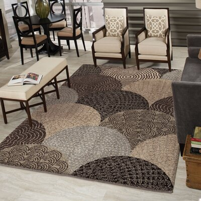 Oceana Brown Area Rug Rug Size: 53 x 76