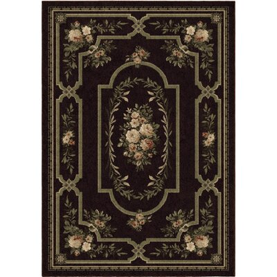 Estela Brown/Green Area Rug Rug Size: 53 x 76