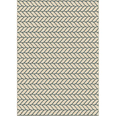 Portwood Rope Admiral Ivory Indoor/Outdoor Area Rug Rug Size: 78 x 1010