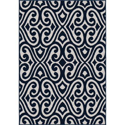 Rufus Blue Area Rug Rug Size: 5 x 7
